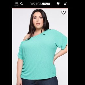 BNWOT Fashion Nova Macy Top in Green